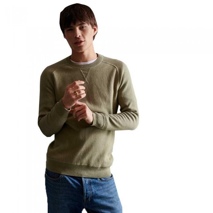[해외]슈퍼드라이 에센셜 코튼 크루 Moss Grit