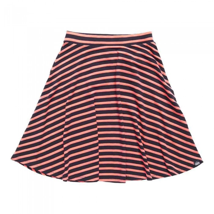 [해외]슈퍼드라이 Harbour Rydell Skirt Coral / Navy Stripe
