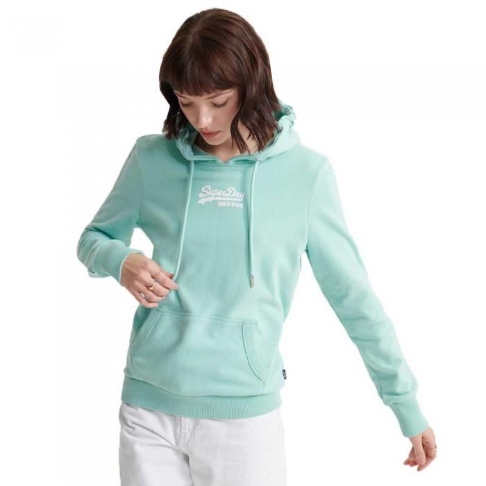 [해외]슈퍼드라이 빈티지 로고 마이크로 Piping 루프백 Powder Turquoise