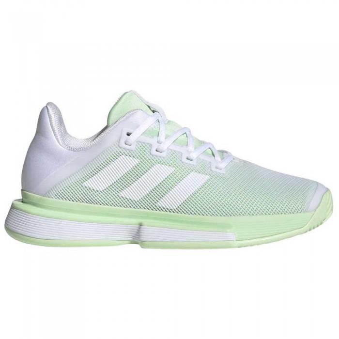 [해외]아디다스 SoleMatch Bounce Ftwr White / Bright Green