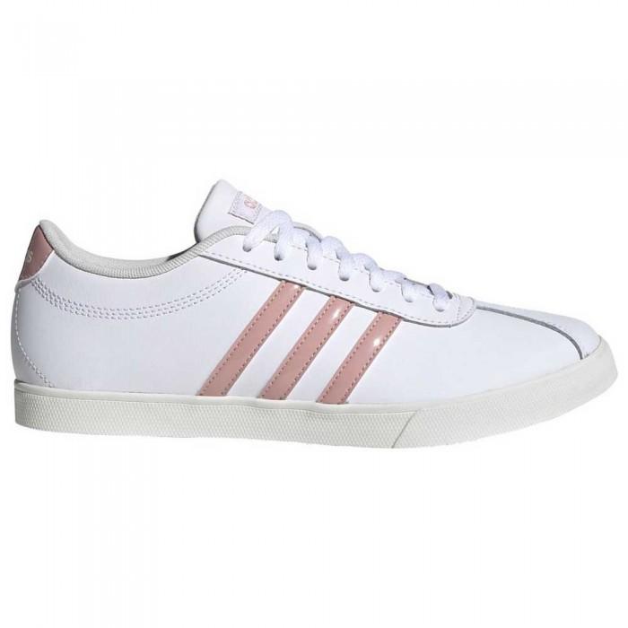 [해외]아디다스 코트set Footwear White / Pink Spirit / Cloud White