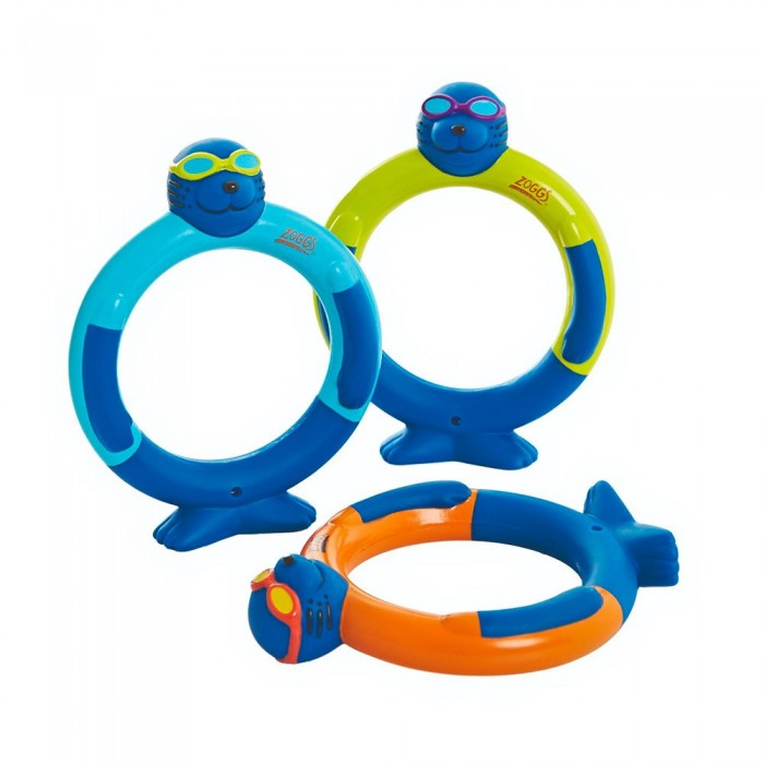 [해외]조그스 Zoggy Dive Rings Junior 6137327381 Blue / Lime / Orange