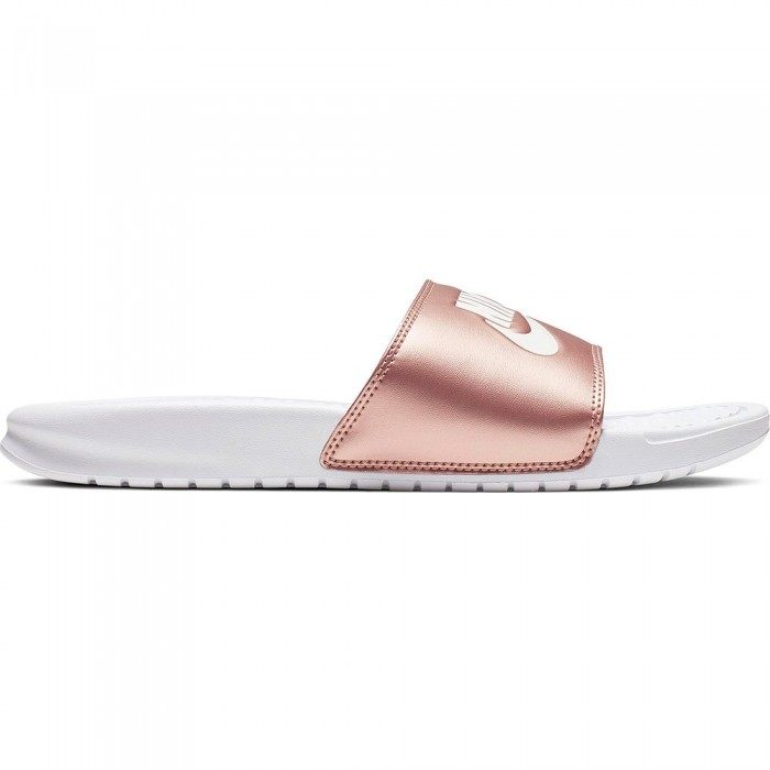 [해외]나이키 Benassi Just Do It Woman6137068836 White / White / Metallic Red Bronze