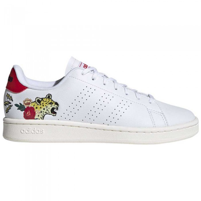 [해외]아디다스 Advantage Footwear White / Footwear White / Scarlet
