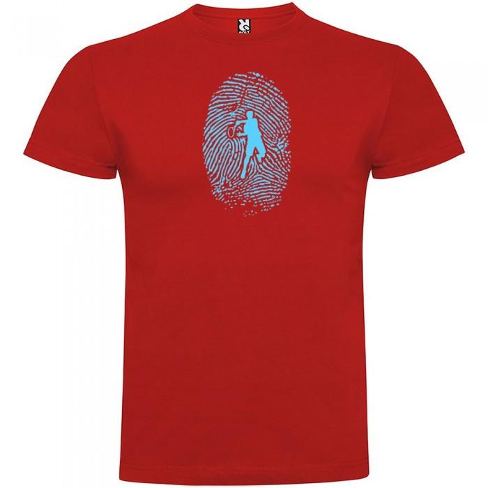[해외]KRUSKIS Tennis Fingerprint Short Sleeve T-Shirt 12137539948 Red