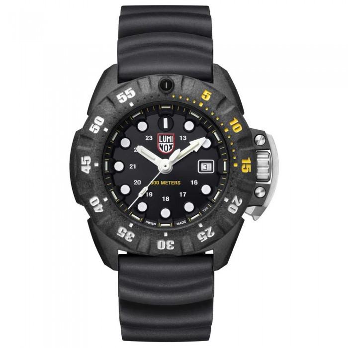 [해외]루미녹스 Scott Cassell Deep Dive Carbon 1555 10136926836 Black / Yellow