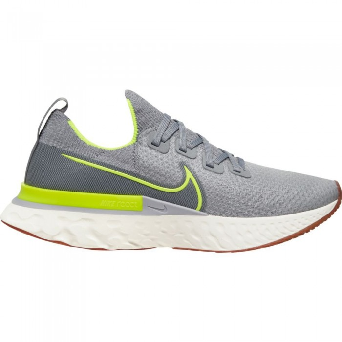 [해외]나이키 React Infinity Run Flyknit Particle Grey / Volt / Wolf Grey / Sail