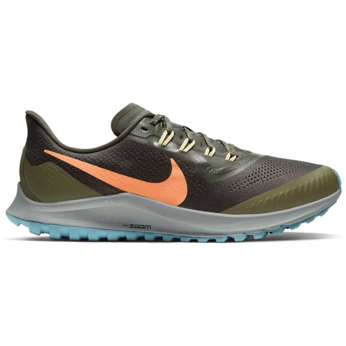 [해외]나이키 에어 Zoom Pegasus 36 트레일 Sequoia / Orange Trance / Medium Olive