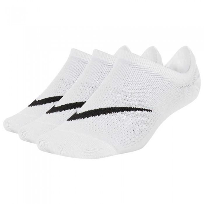 [해외]나이키 Lightweight Footie Socks 3 Pair 7137475267 White / Black