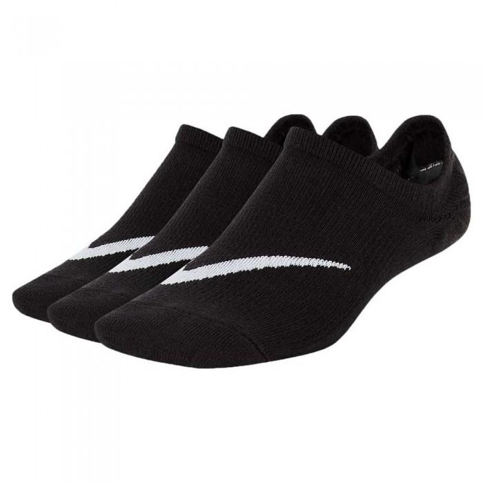[해외]나이키 Lightweight Footie Socks 3 Pair 7137475438 Black / White