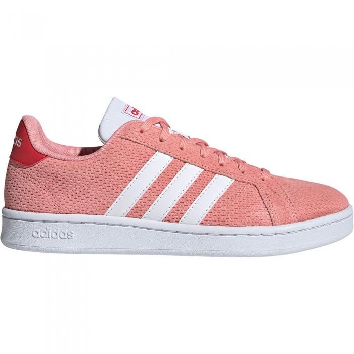 [해외]아디다스 Gr앤드 코트 Glory Pink / Footwear White / Gloy Red