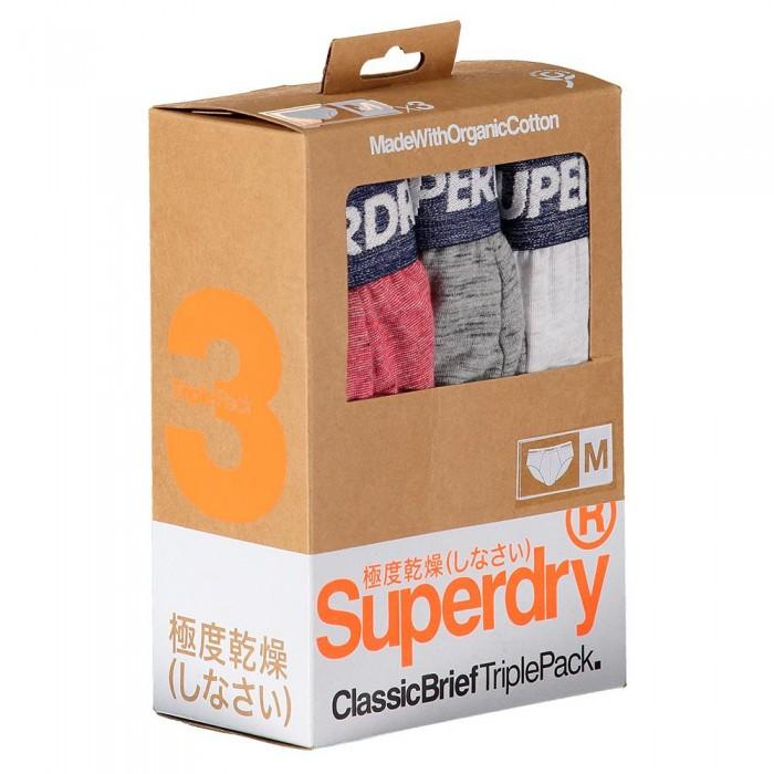 [해외]슈퍼드라이 클래스ic Brief 3 팩 Red Feeder Multipack