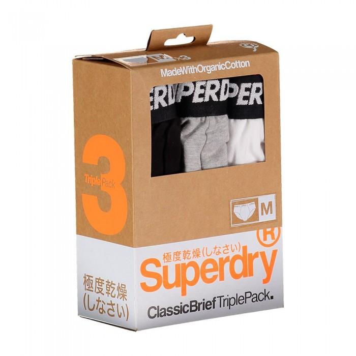 [해외]슈퍼드라이 클래스ic Brief 3 팩 Black Marl Multipack