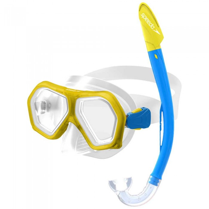 [해외]스피도 Leisure Dual Lenses Mask+Tube 6137435874 Yellow/Royal
