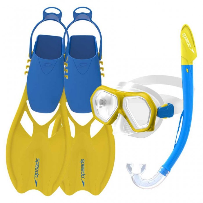 [해외]스피도 Leisure Dual Lenses Mask++Tube+Fins 6137435876 Yellow/Royal