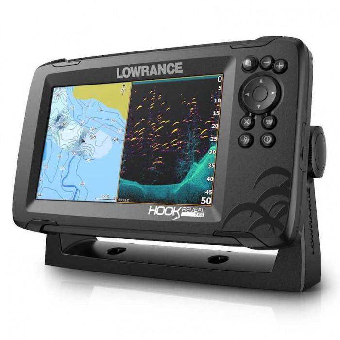 [해외]LOWRANCE Hook Reveal 7 83/200 HDI ROW 8137394686 Black