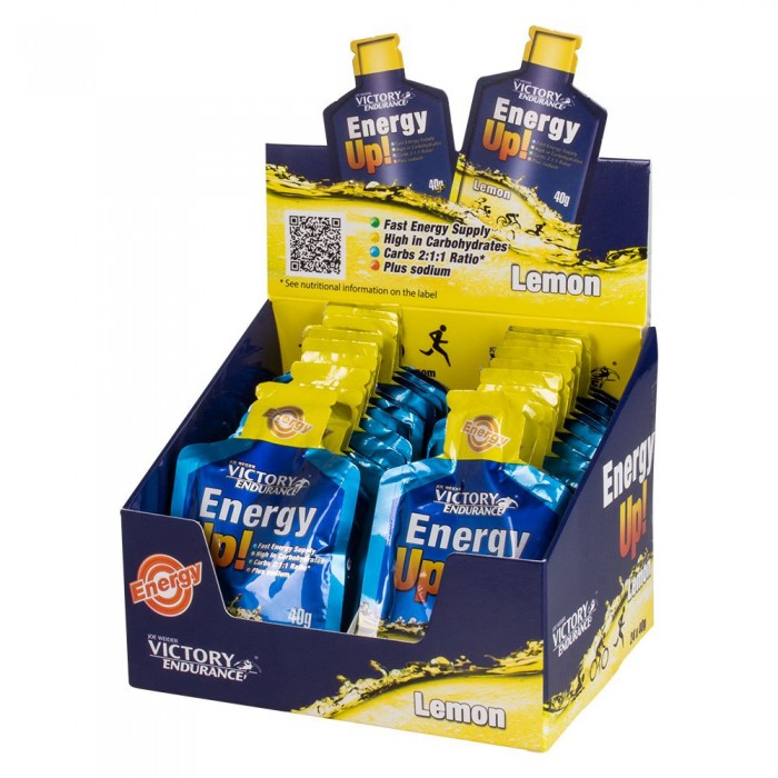 [해외]VICTORY ENDURANCE Energy Up 40gr x 24 Gels 1334297 Lemon