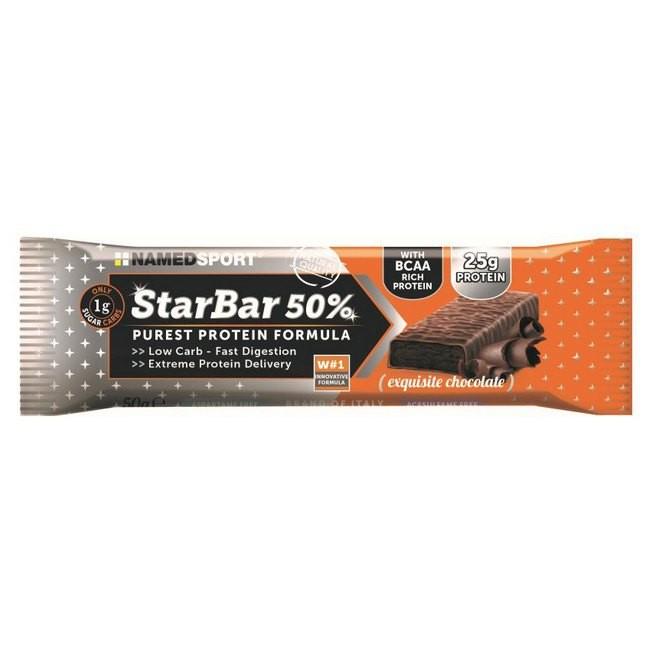 [해외]NAMED SPORT 스타Bar 50% Protein 50gr x 24 Bars Chocolate