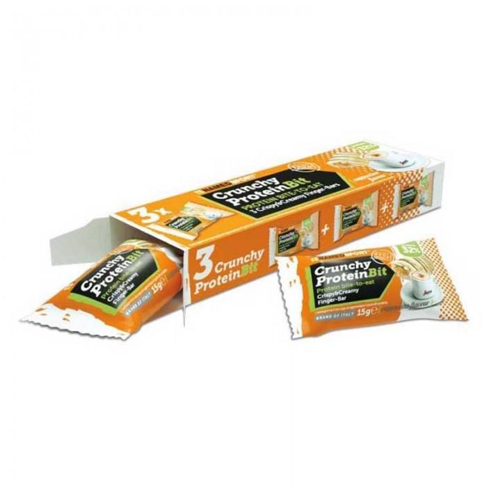 [해외]NAMED SPORT Crunchy ProteinBit 3 x 15gr x 24 Units Cappuccino