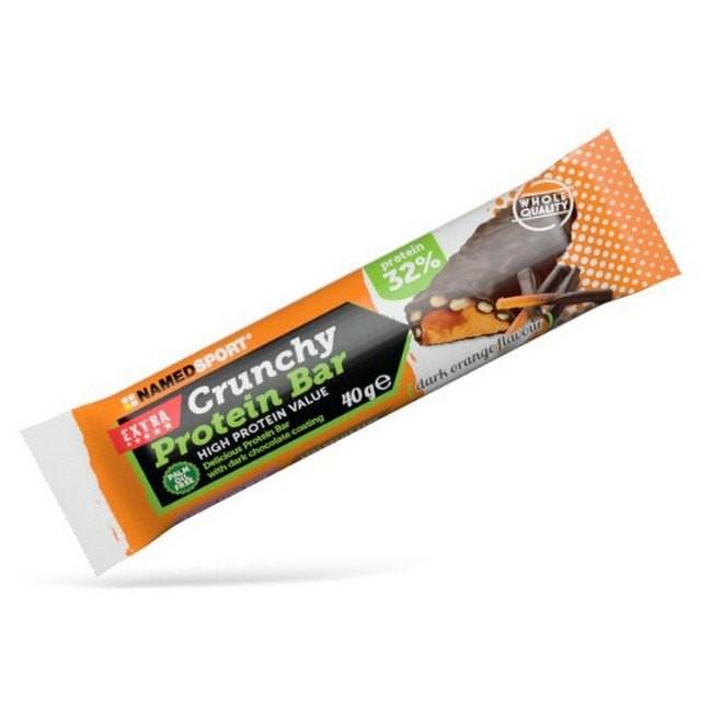 [해외]NAMED SPORT Crunchy Protein 40gr x 24 Bars Dark Orang