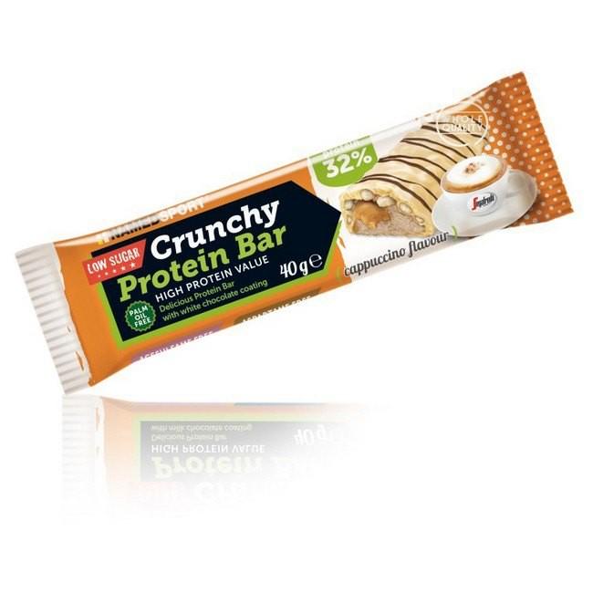 [해외]NAMED SPORT Crunchy Protein 40gr x 24 Bars Cappuccino