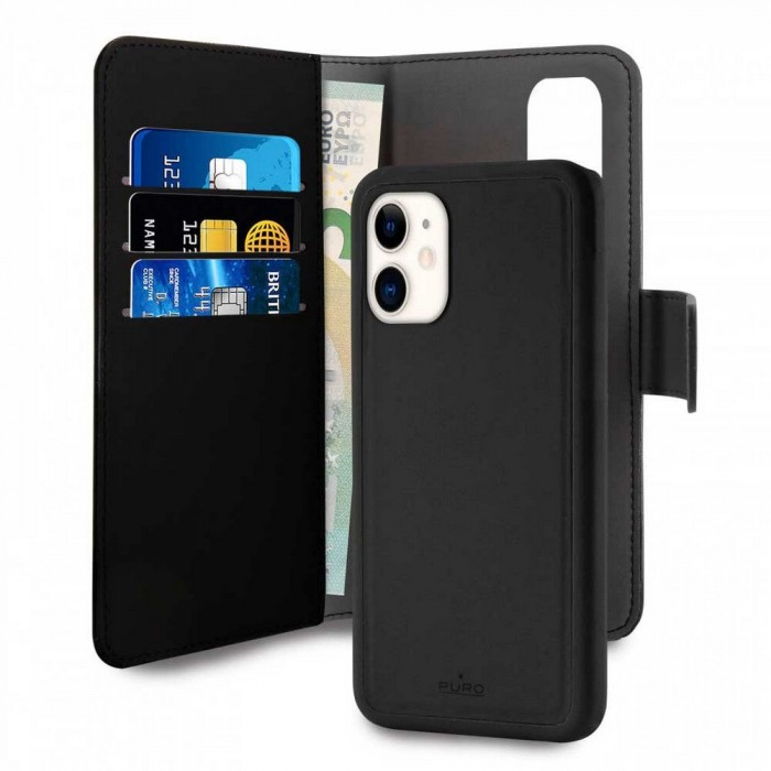 [해외]PURO Wallet Cover Detachable iPhone 11 Black