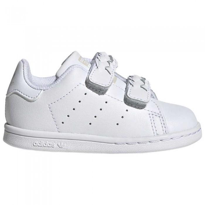 [해외]아디다스 오리지널 스탠 스미스 CF Infant Footwear White / Footwear White / Grey One