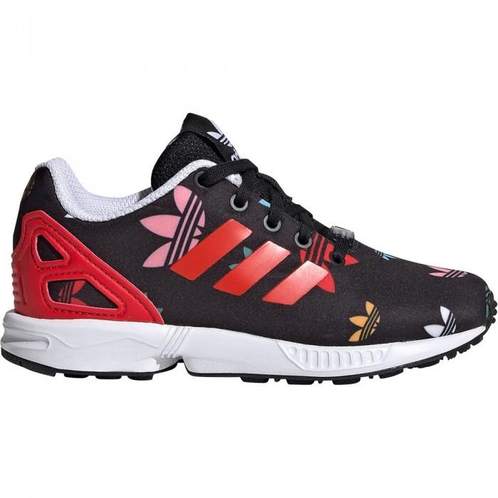 [해외]아디다스 오리지널 ZX 플럭스 Child Core Black / Lush Red / Footwear White
