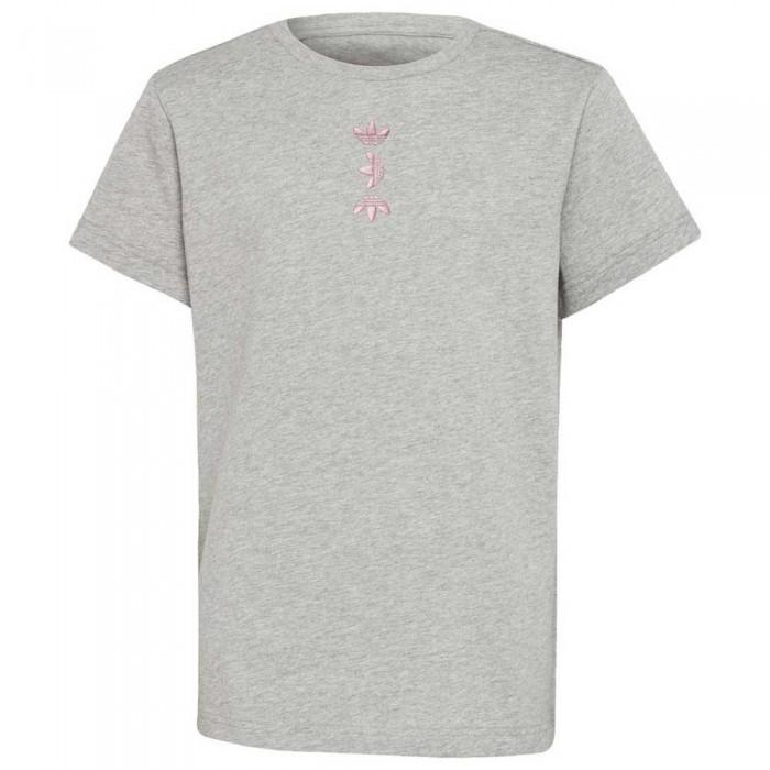 [해외]아디다스 오리지널 Large 로고 Medium Grey Heather / Scarlet