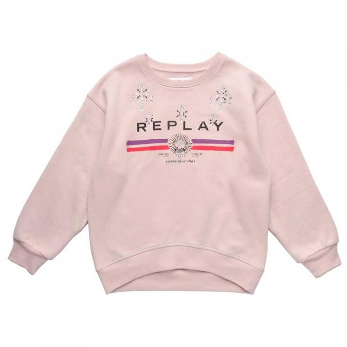 [해외]리플레이 SG2492 스웨트셔츠 Dusty Pink