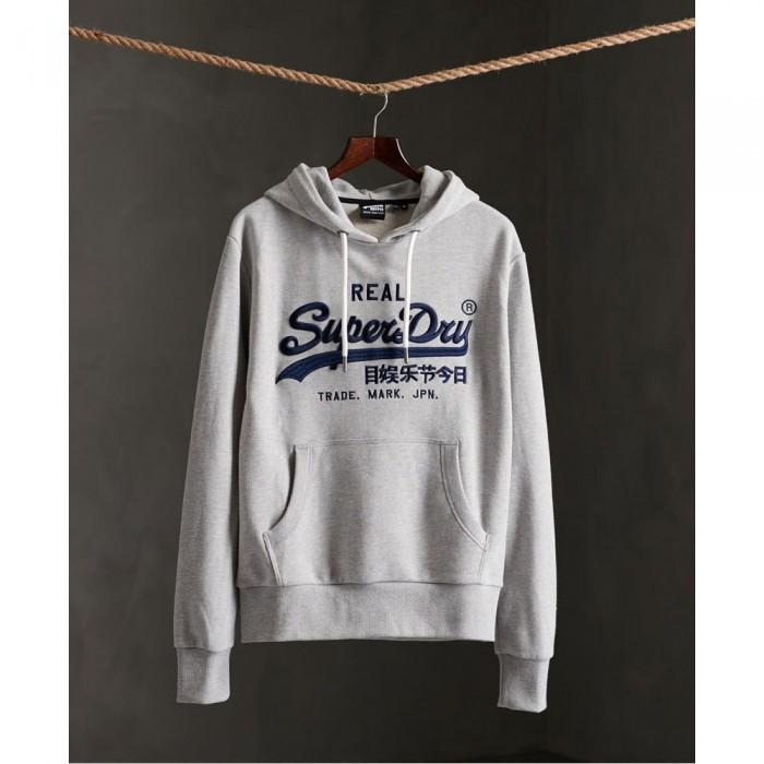 [해외]슈퍼드라이 빈티지 로고 모노 엠브로이더 Grey Marl