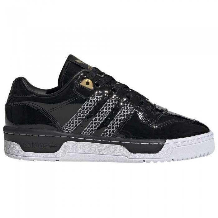 [해외]아디다스 오리지널 Rivalry 로우 Core Black / Footwear White / Gold Metal