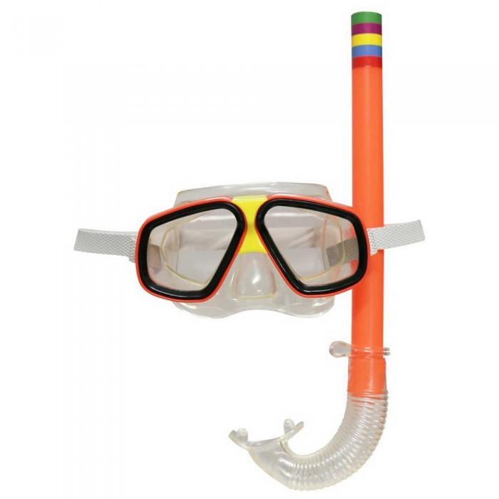 [해외]SOFTEE Snorkel Tube+Swimming Goggle 6137568349 Orange / Clear
