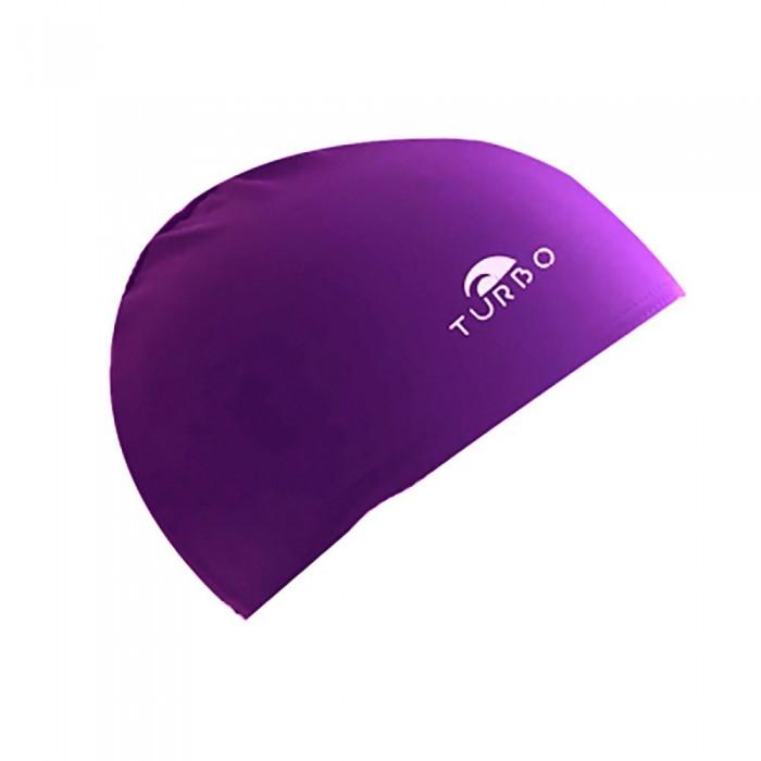 [해외]터보 Purple Lycra Cap 위드 Narrow Rubber Junior Purple