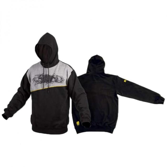 [해외]BLACK CAT Skull Hoody 137578180 Black / Grey