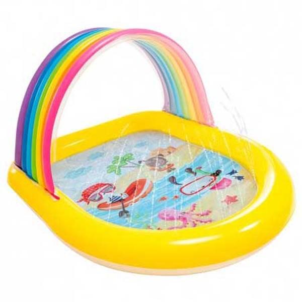 [해외]인텍스 Rainbow Children'S Pool With Canopy And Sprinkler 6137566101 Multi