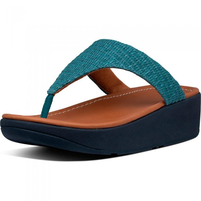 [해외]핏플랍 Imogen Basket Weave Toe-Thongs Woman137464222 Sea Blue