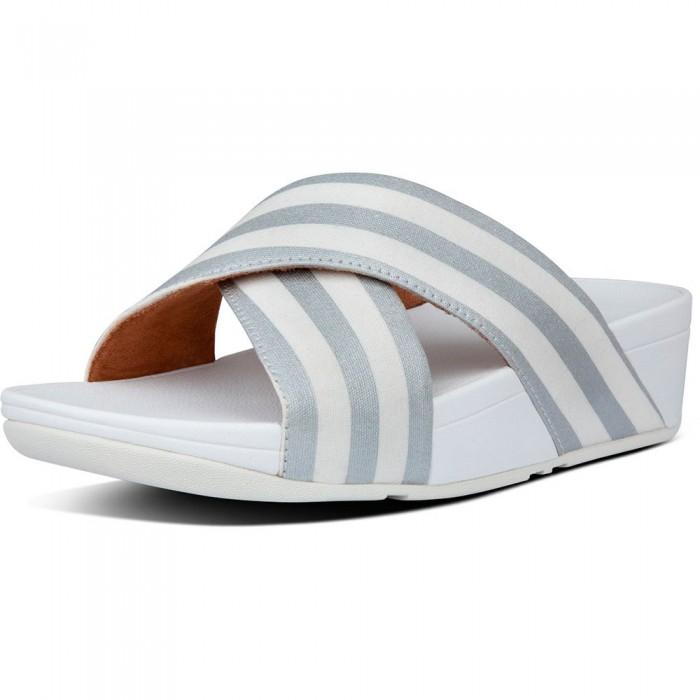[해외]핏플랍 Lulu Metallic Stripe Woman137464245 Urban White