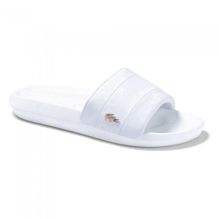 [해외]라코스테 Croco 메탈릭 PU White / White