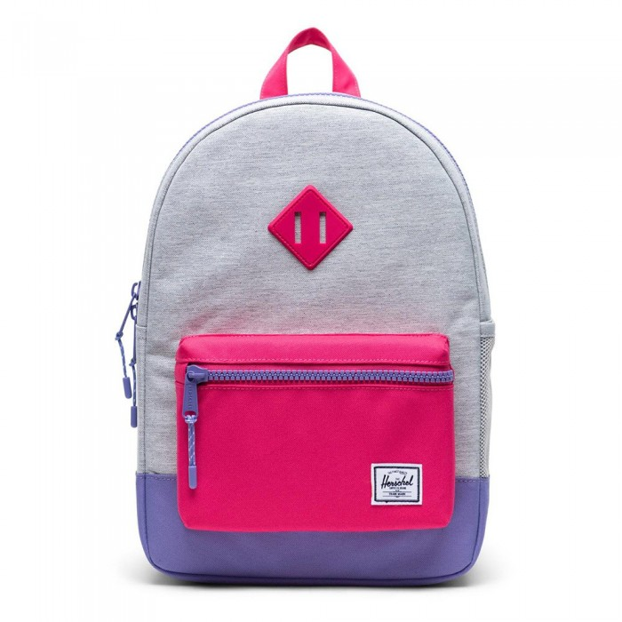 [해외]허쉘 Heritage Youth 137313222 Light Grey Crosshatch / Raspberry Sorbet / Aster Purple
