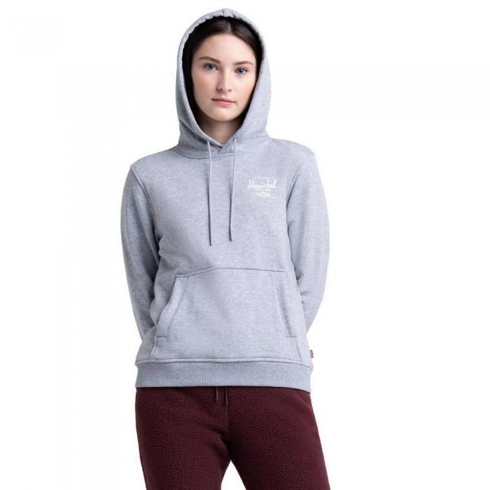 [해외]허쉘 Pullover Hoodie 137506005 Classic Logo Heather Grey / White