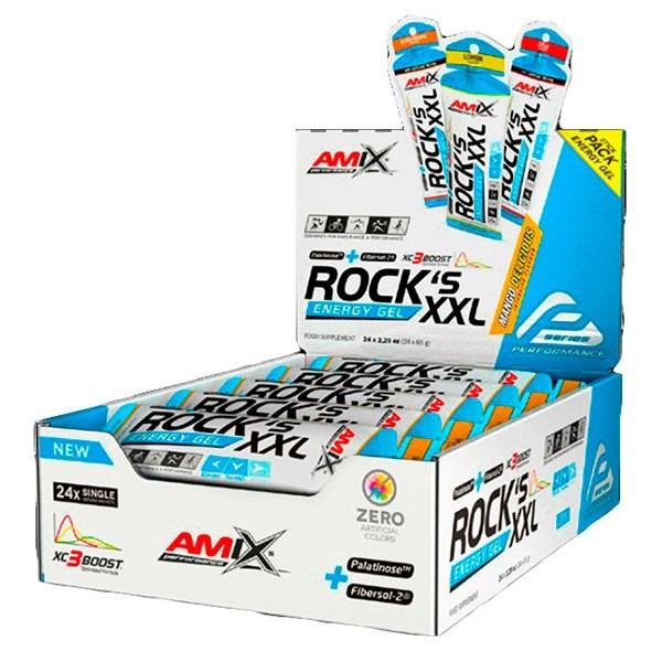 [해외]AMIX Rock´s Energy Gel XXL With Caffeine 65gr x 24 Gels 7137599000
