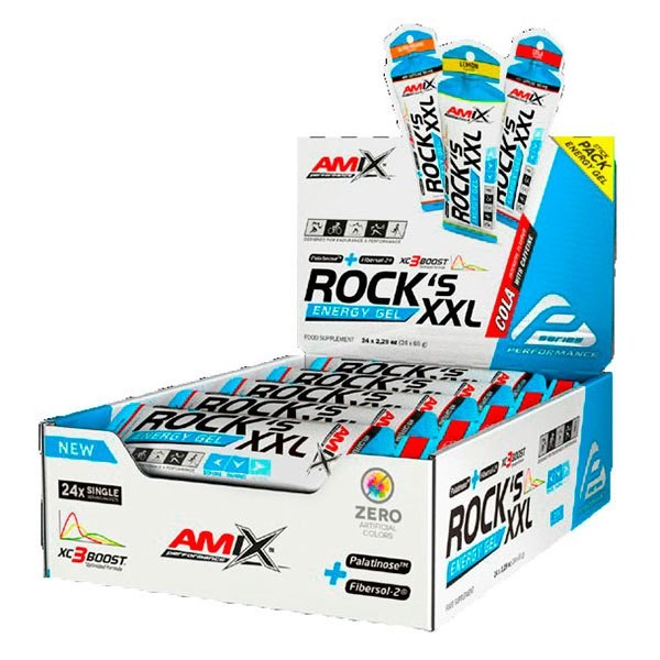[해외]AMIX Rock´s Energy Gel XXL With Caffeine 65gr x 24 Gels 7137599001