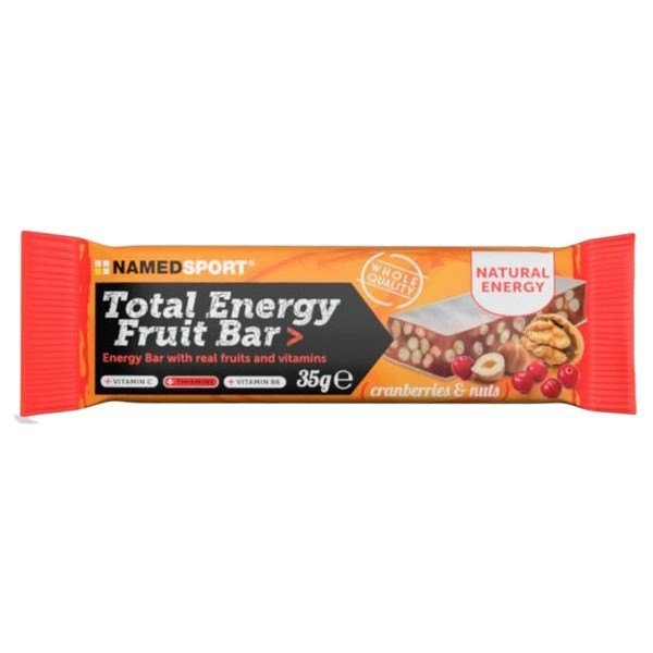 [해외]NAMED SPORT Total Energy 35gr x 25 Bars 7137600707 Cranberries / Nuts