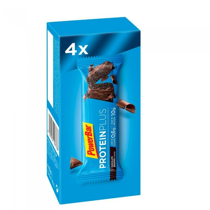 [해외]파워바 Protein Plus Low Sugars 35gr x 4 Bars x 10 Boxes 7137604202 Chocolate Brownie