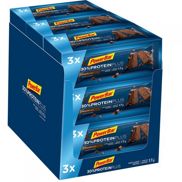 [해외]파워바 Protein Plus 30 55gr x 3 Bars x 9 Boxes 7137604203 Chocolate