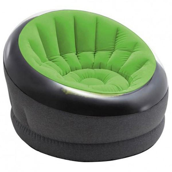 [해외]인텍스 Empire Lime Green Inflatable Armchair 6137566137 Green Lime / Black