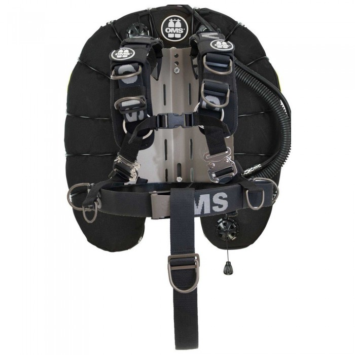 [해외]OMS Aluminum Comfort Harness III Signature With Deep Ocean Wing 45 Lbs 10137602170 Black