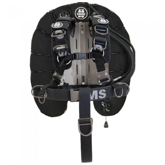 [해외]OMS Stainless Steel Comfort Harness III Signature With Deep Ocean Wing 45 Lbs 10137602171 Black