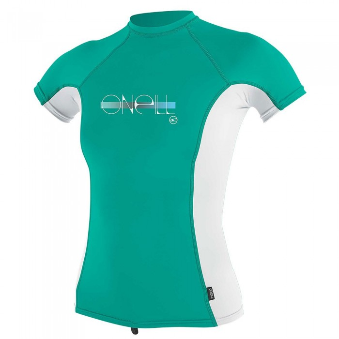 [해외]오닐 웻슈트 Girls 프리미엄 스킨스 Rash Guard Baltic Green / White / Baltic Green